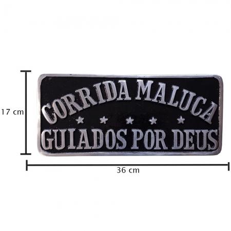 Placa Decorativa para Caminhão Corrida Maluca Guiado por Deus