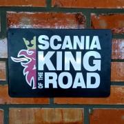Placa Decorativa Scania King Of The Road 30 X 20 Cm