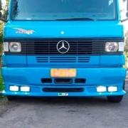 Spoiler Para-choque Para Caminhão MB 709 710 Farol Quadrado