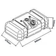 Tanque de Combustível Plastico Mercedes Benz 608D 80 Litros
