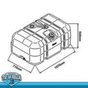 Tanque de Combustivel Plastico Volkswagem Motor Eletronico Constellation / Worker 2011-2012 275 Litros