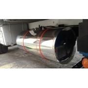 Tanque de Inox para Caminhão 235 Litros Completo 450 X 1580