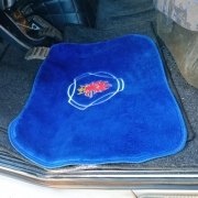Tapete Luxo Pelúcia Azul para Caminhão Scania