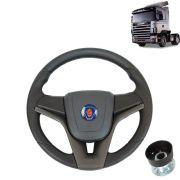 Volante esportivo Compatível com o Caminhão Scania S4 c/cubo mod Cruze