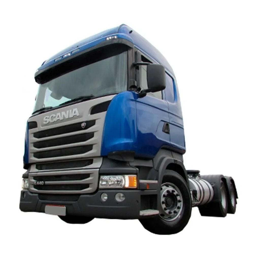 Acabamento Superior Farol Compatível com Caminhão Scania Highline | Streamline Lado Esquerdo