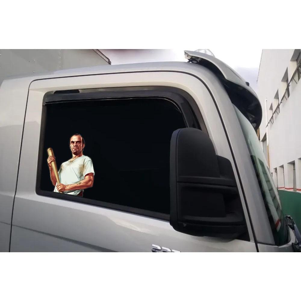 Adesivo Lateral Vidro Caminhão Carro Decorativo Trevor GTA 5