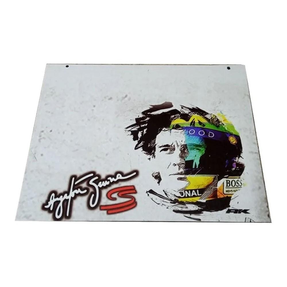 Apara Barro Dianteiro Caminhão 50 X 40 Ayrton Senna Branco Par