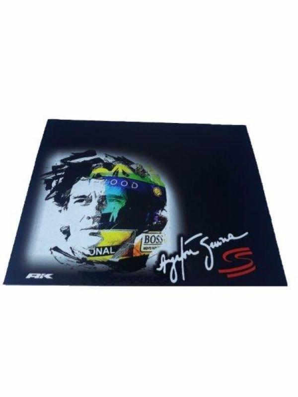 Apara Barro Dianteiro Caminhão 50 X 40 Ayrton Senna Preto Par