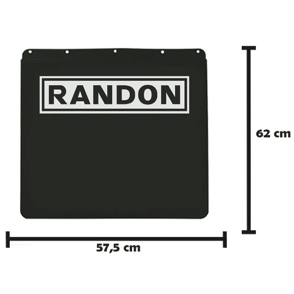 Apara Barro Injetado Alto Relevo Bitrem Randon (57,5x62) Par