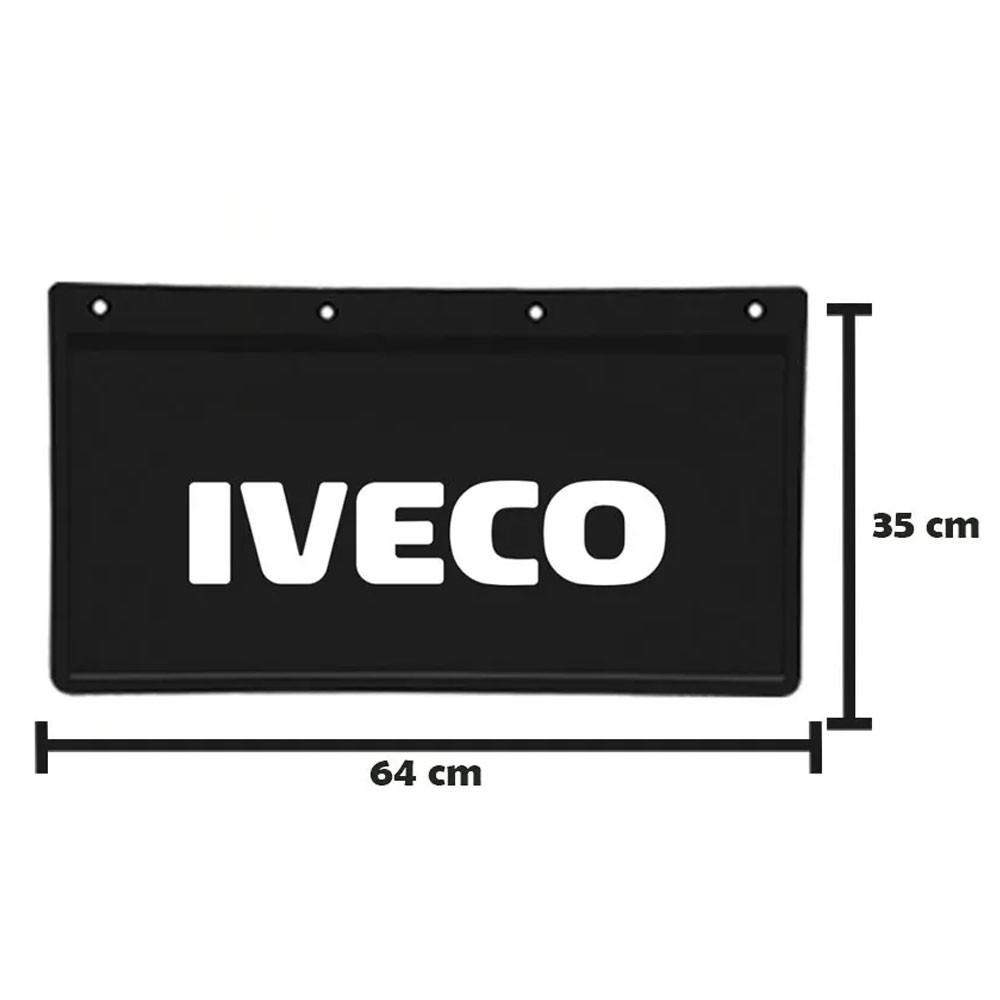 Apara Barro Traseiro Alto Relevo para Iveco (64x35) Par
