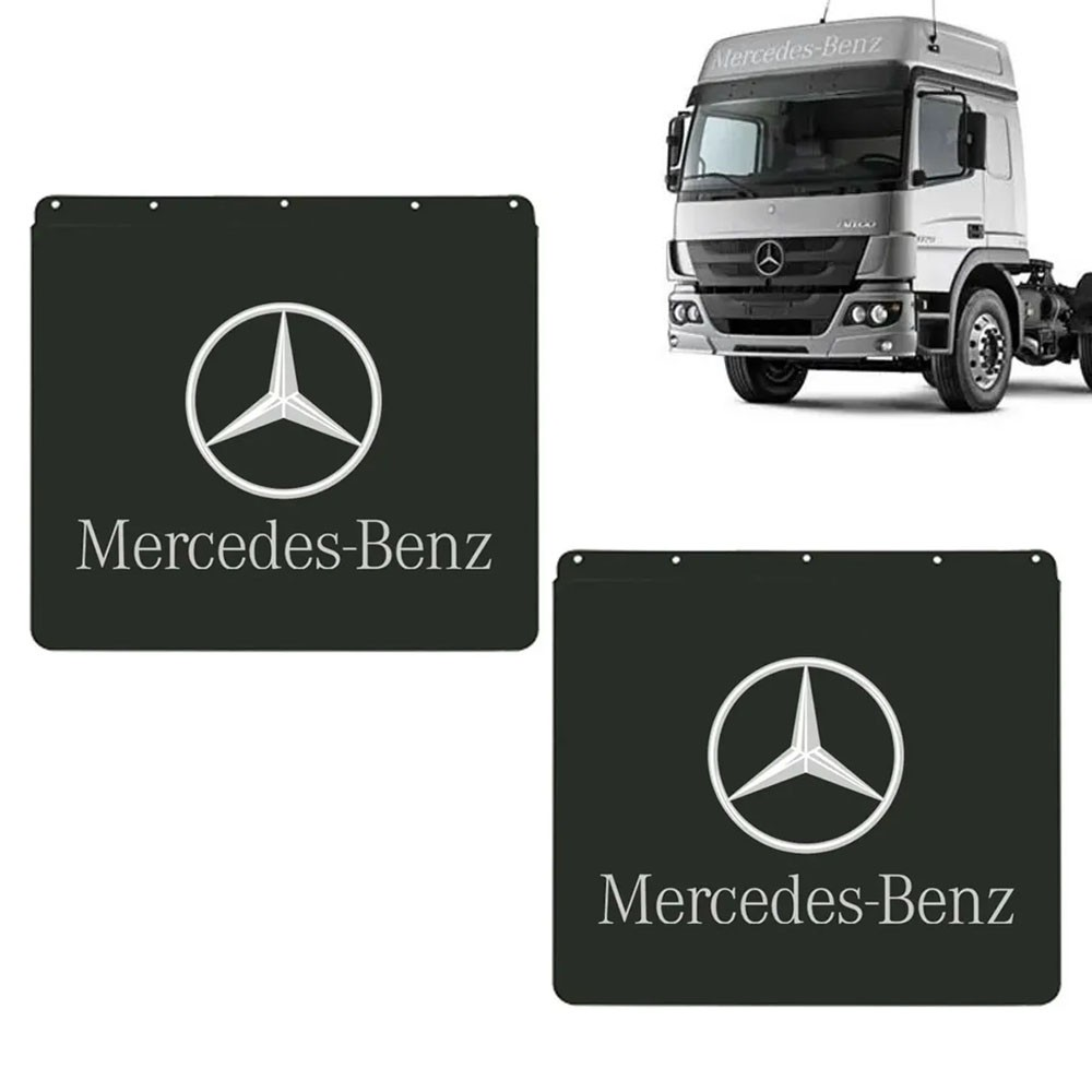 Apara Barro Traseiro Injetado para Mercedes Benz (57,5x62) Par