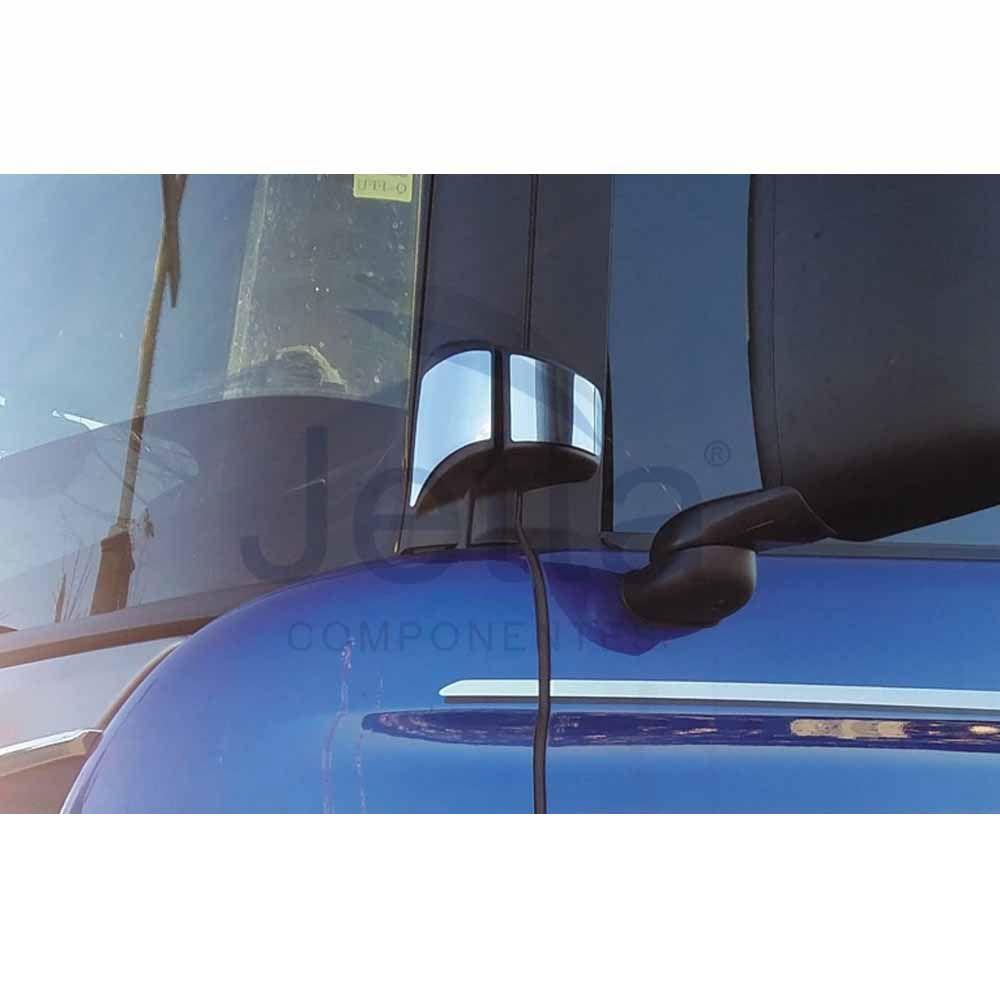 Aplique Inox Dobradiças da Porta Compatível com o Caminhão Scania S5