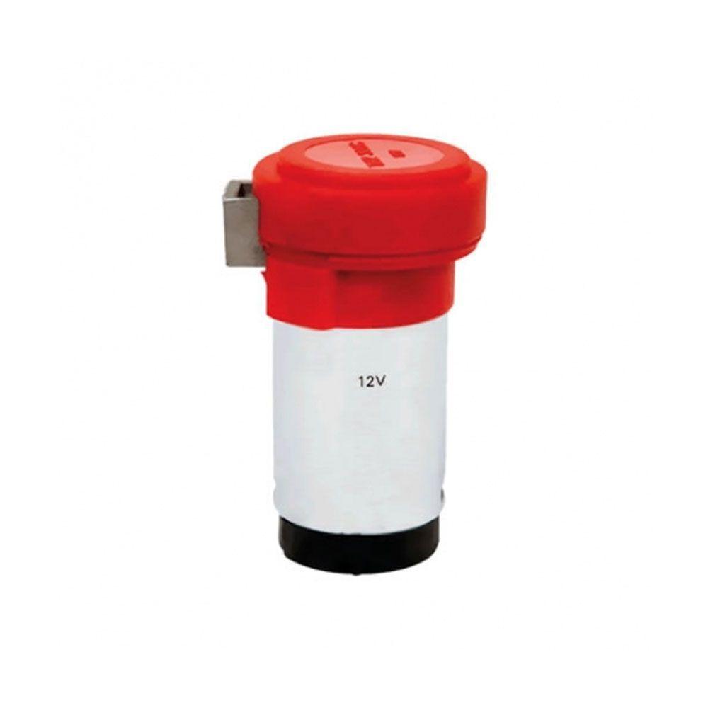 Buzina eletropneumática metal cromada 45 cm com compressor