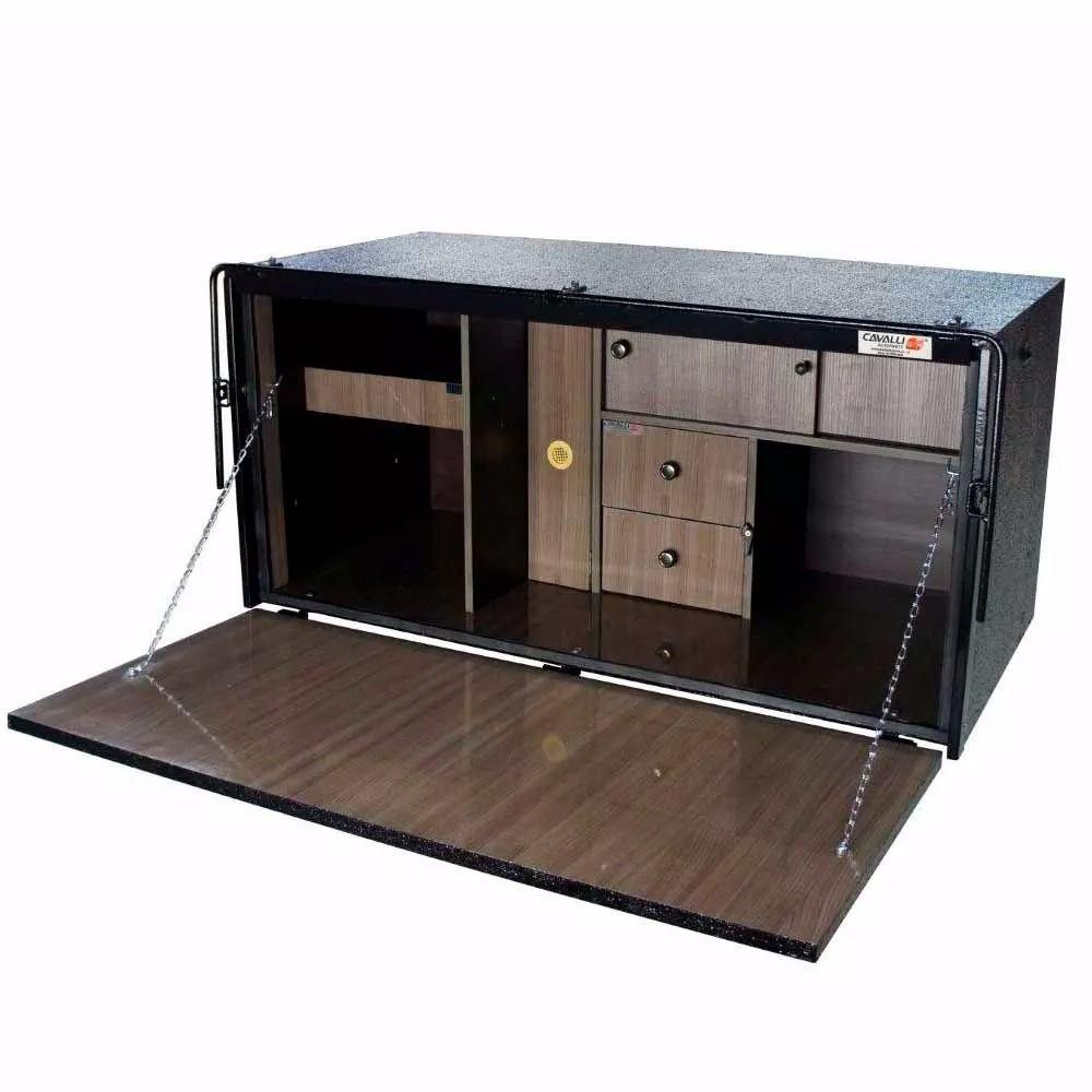 Caixa de Cozinha para Caminhão Cavalli Luxo 600 x 1240 x 600 c/ Salameira