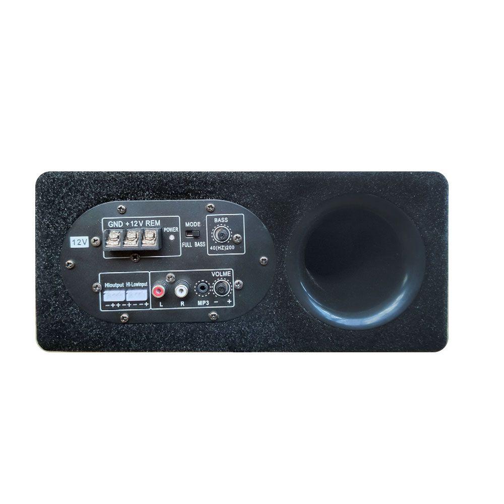 Caixa de Som Slim Amplificada para Caminhão Subwoofer 8 Polegadas 200W drive 75w RMS 4 Ohms