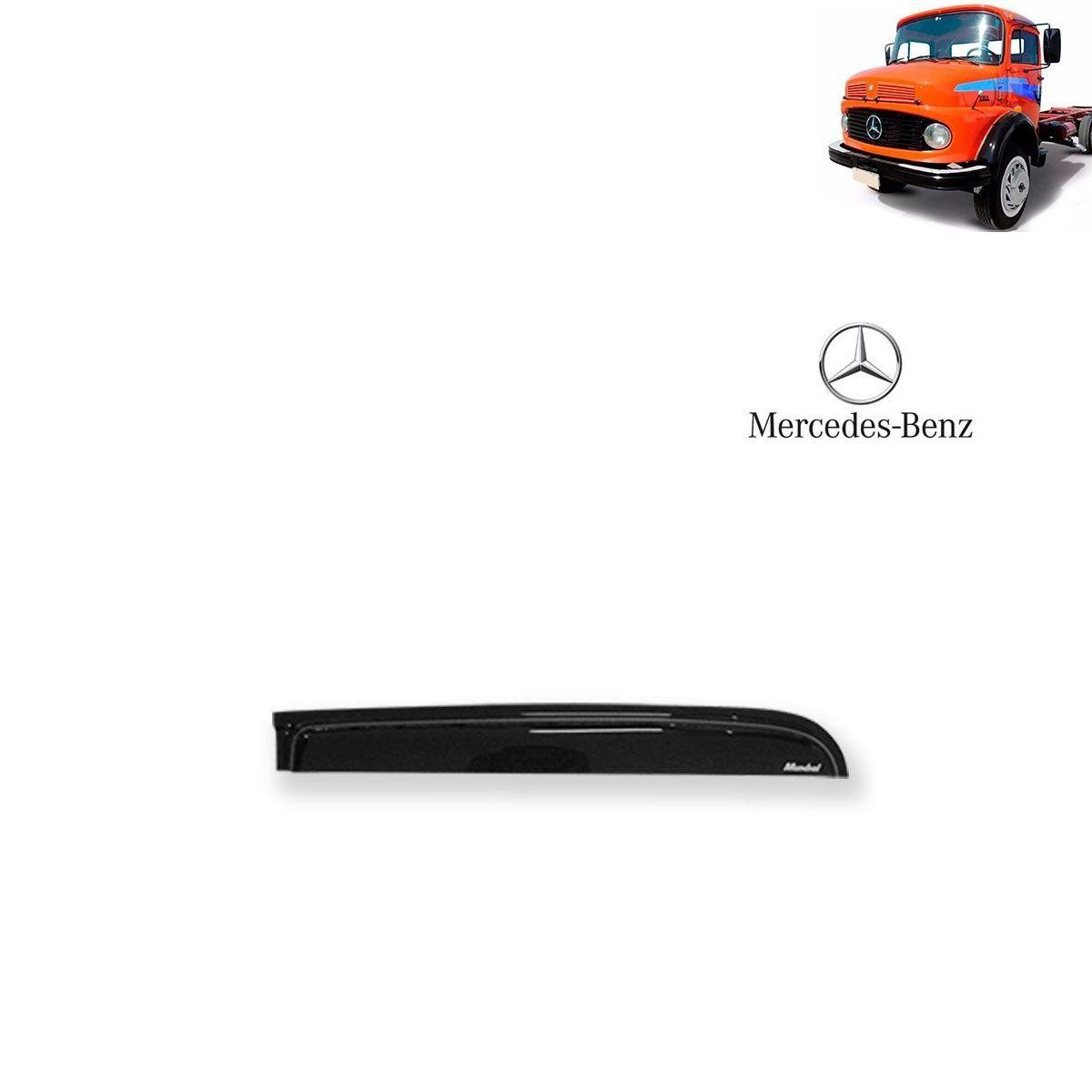 Calha de Chuva Porta para Caminhão Mercedes Benz 1113 - 1114 Adesiva Reta
