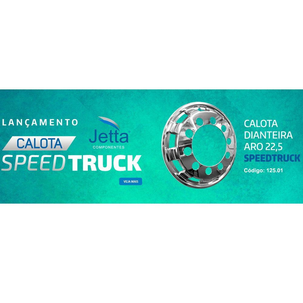Calota Dianteira Para Caminhão Cromada Aro 22,5 Jetta (par)