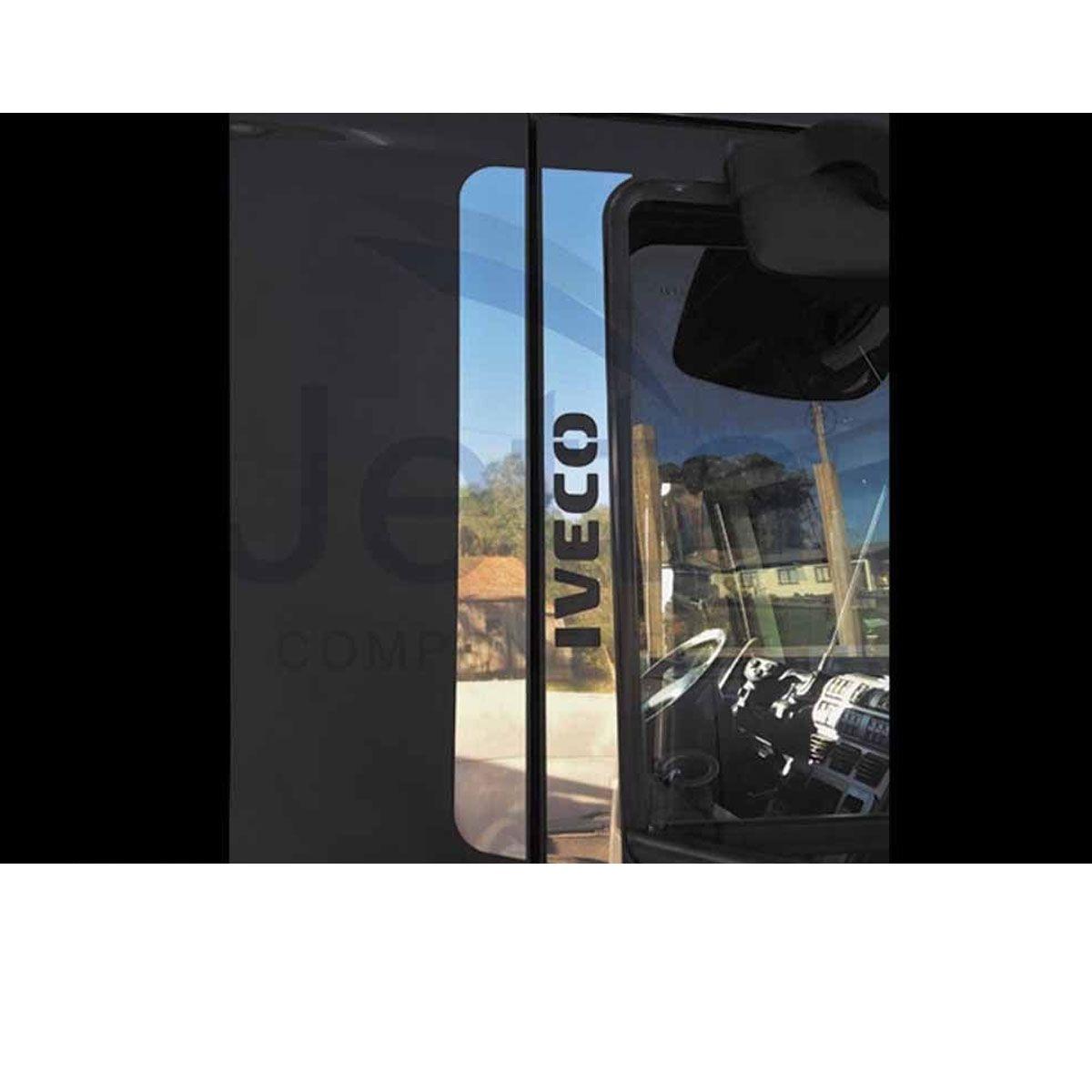 Conjunto em Inox Coluna da Porta para Iveco Eurotech e Stralis