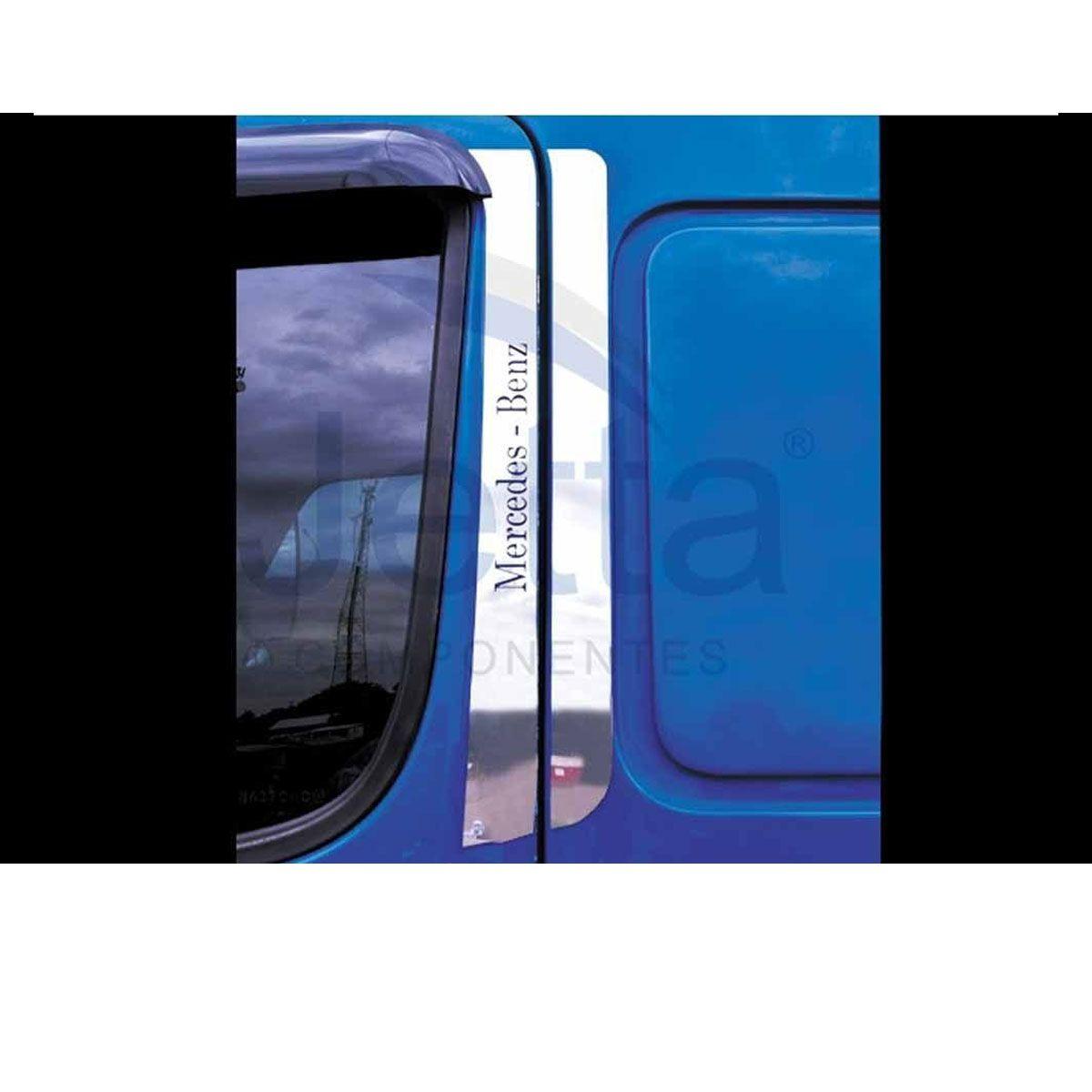 Conjunto em Inox Coluna da Porta para Mercedes Benz Accelo