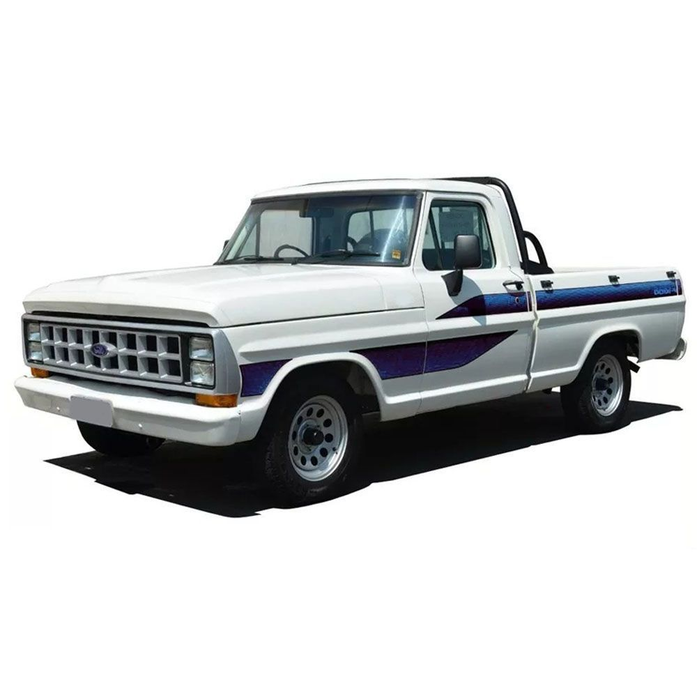 Conjunto Faixa Adesiva Azul Para Ford F1000 1989