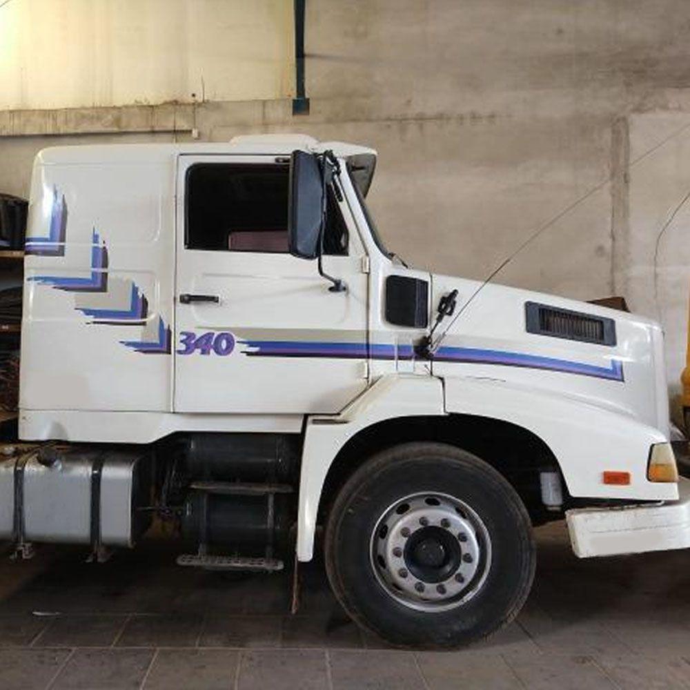 Conjunto Faixa Adesiva Azul Para Volvo Nl 340 1993