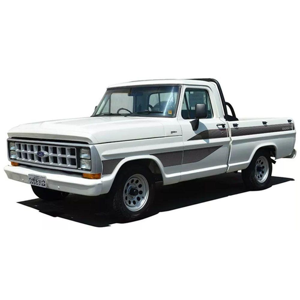 Conjunto Faixa Adesiva Cinza Para Ford F1000 1989
