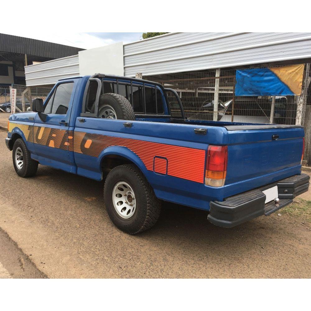 Conjunto Faixa Adesiva Para Ford F1000 1993 Turbo
