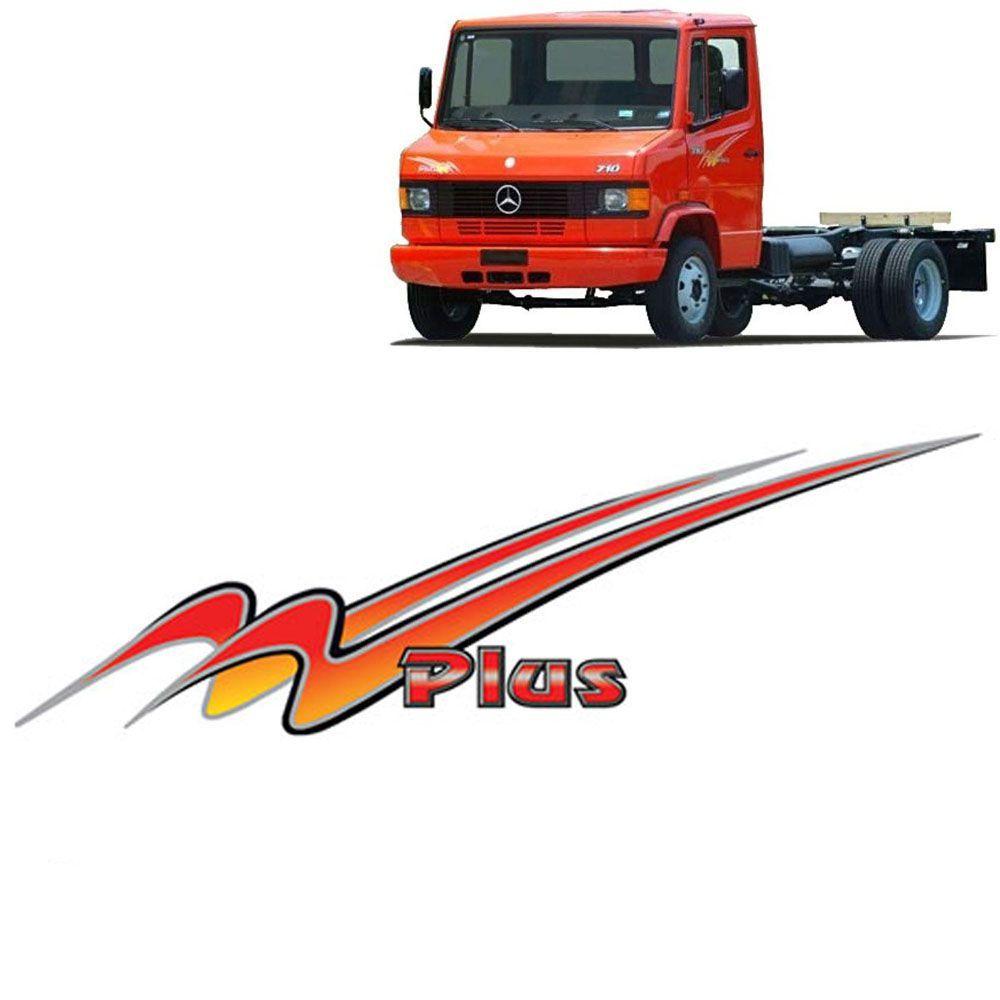 Conjunto Faixa Adesiva Para Mercedes-benz 710 Plus