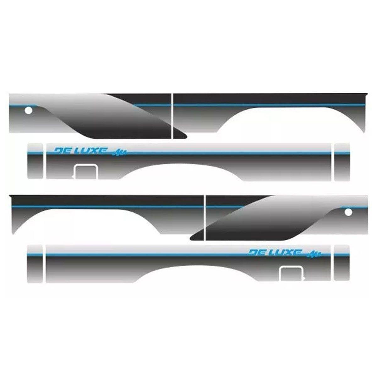 Conjunto Faixa Adesiva Prata Com Azul D20 Cabine Simples