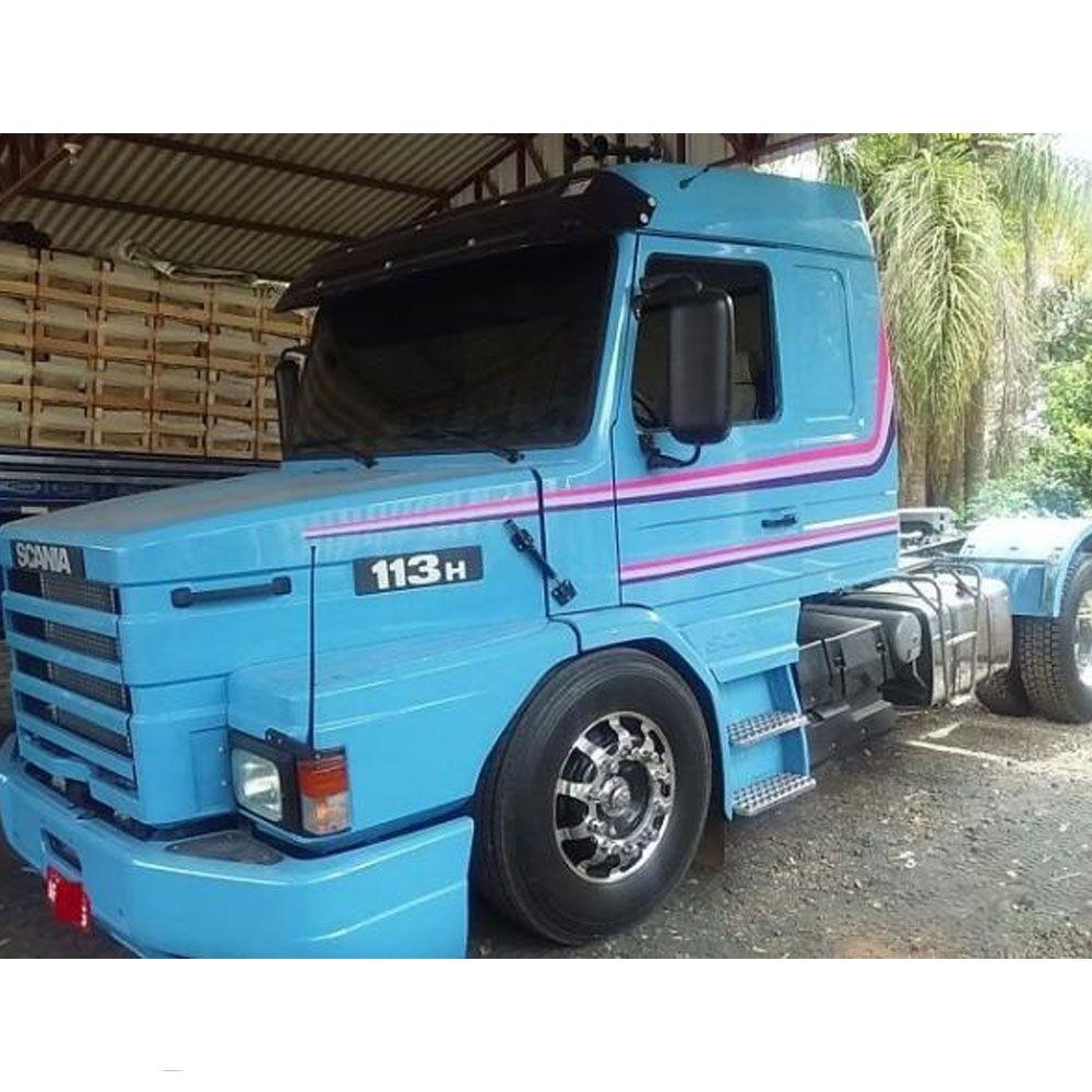 Conjunto Faixa Adesiva Roxa Compatível com o Caminhão Scania T 113