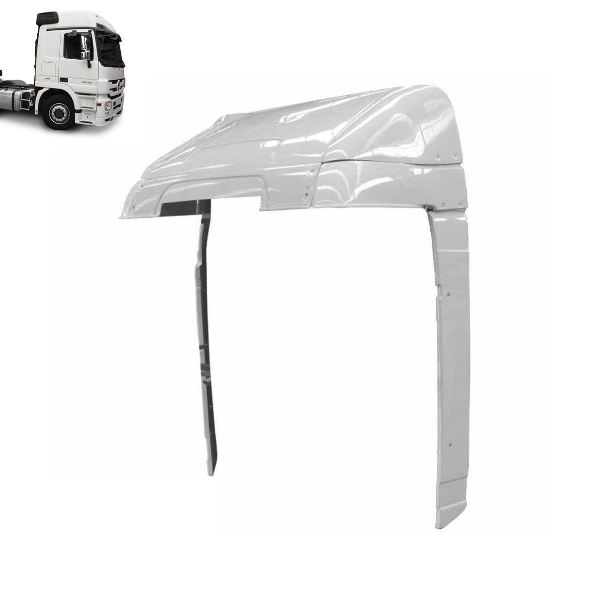 Defletor de Ar para Mercedes Benz Actros Cabine Alta Completo com Regulagem com Recorte do Filtro