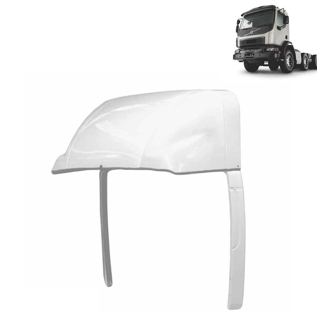 Defletor de Ar para Volvo VM Cabine Simples Completo