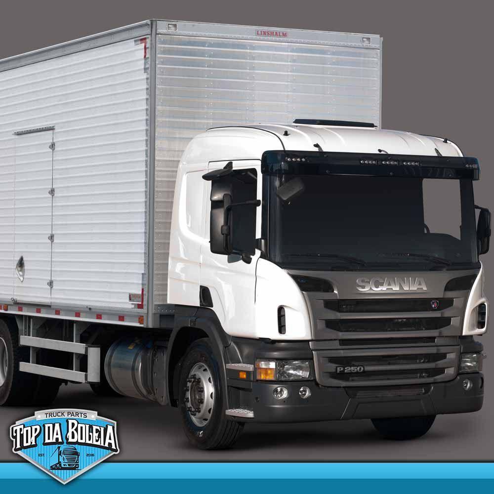 Emblema da Grade Cromado Compatível com o Caminhão Scania P S5 Moderno