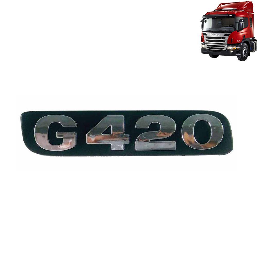 Emblemas de Potência Cromado ou Pintado compatível com o caminhão Scania P / G / Antigo de 2008 à 2009
