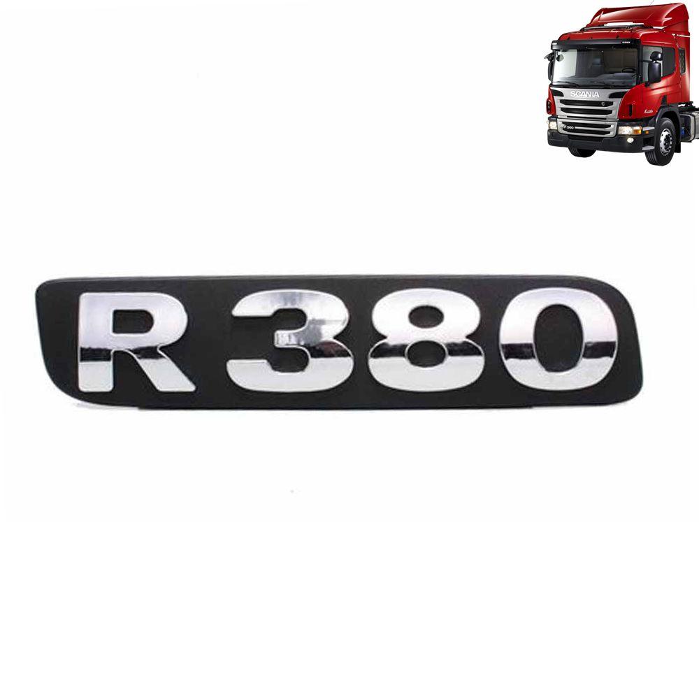 Emblemas de Potência Cromado ou Pintado compatível com o Caminhão Scania P / G / R a Partir de 2010