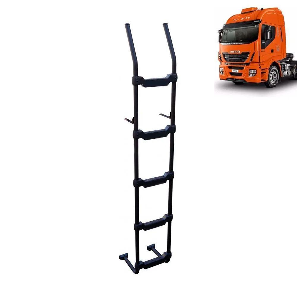 Escada Traseira para caminhão Iveco Stralis Hi-Way Preta