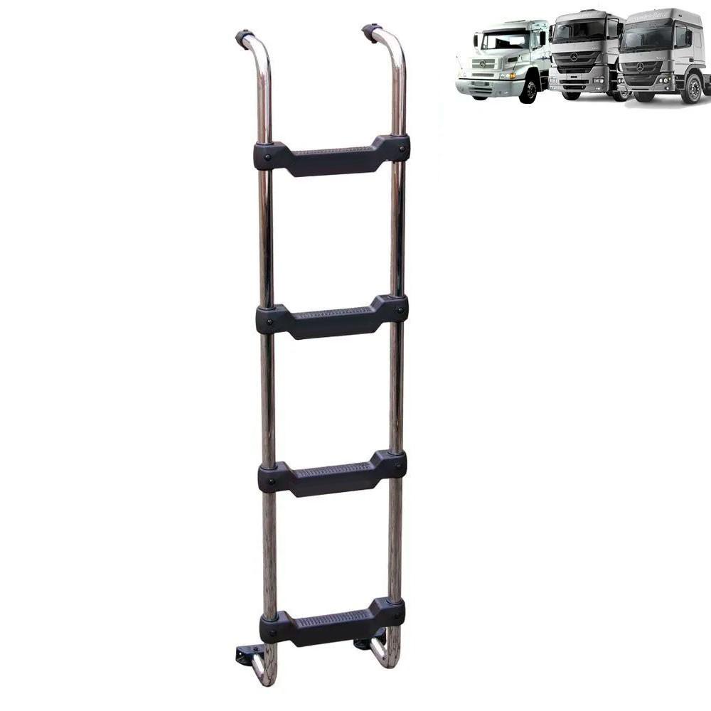 Escada Traseira para caminhão Mercedes-Benz 1938S / Axor / Atego Cabine Alta Cromada