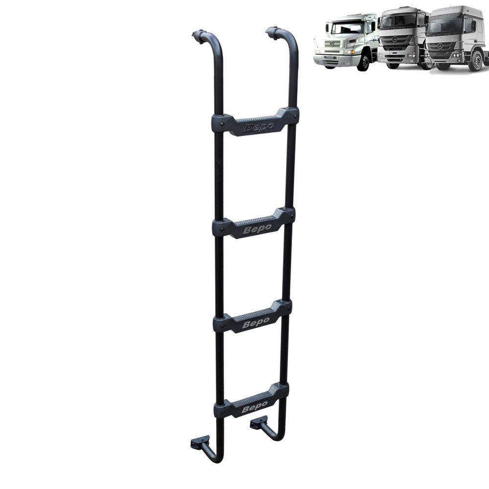 Escada Traseira para caminhão Mercedes-Benz 1938S / Axor / Atego Cabine Alta Preta