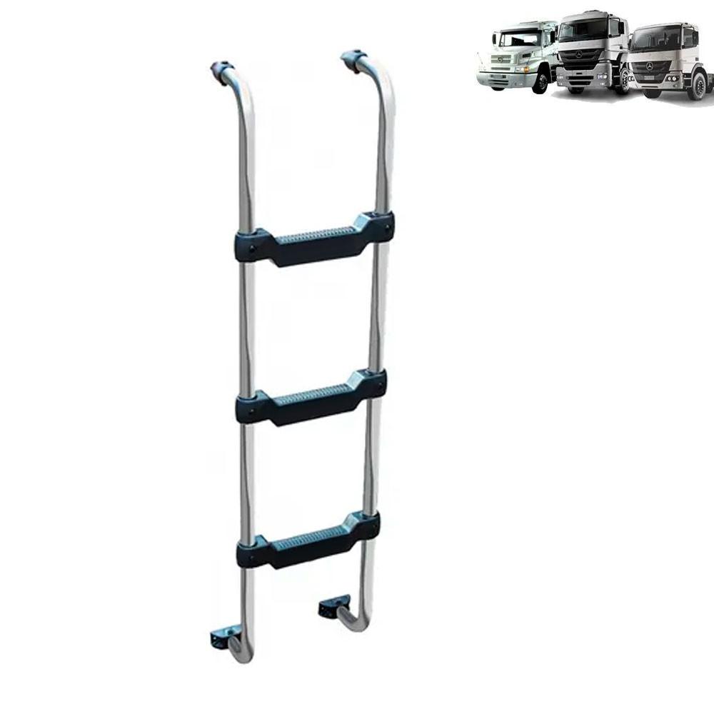 Escada Traseira para caminhão Mercedes-Benz 1938S / Axor / Atego Cabine Baixa Cromada