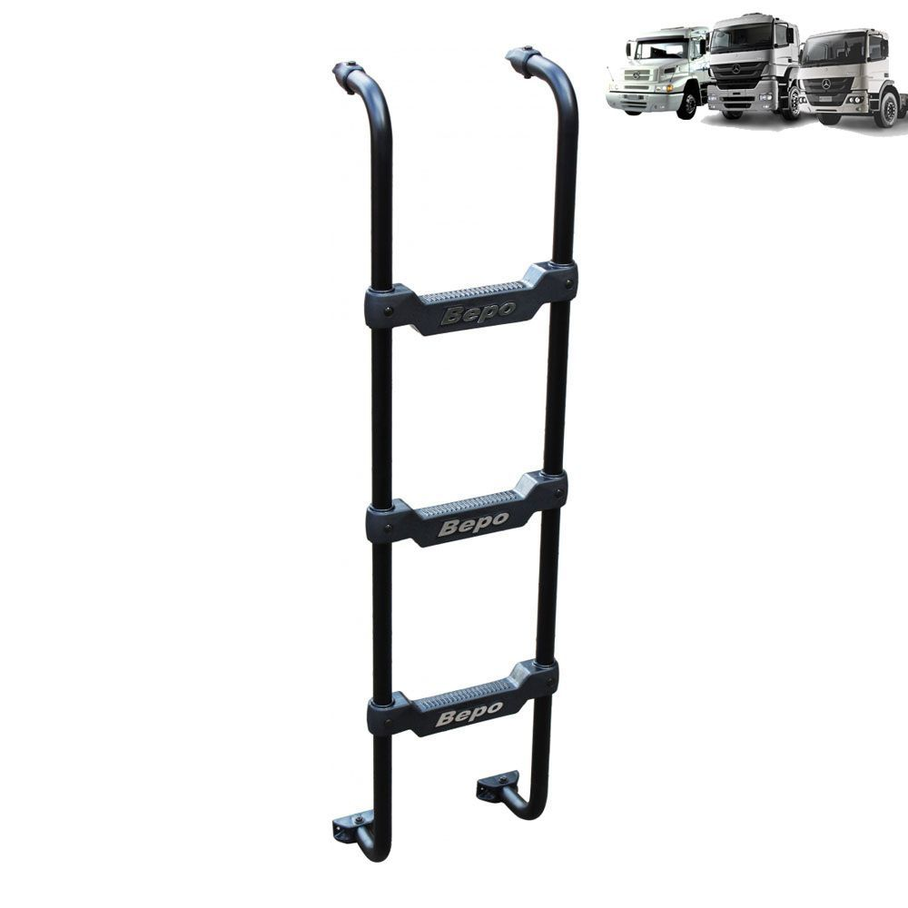 Escada Traseira para caminhão Mercedes-Benz 1938S / Axor / Atego Cabine Baixa Preta