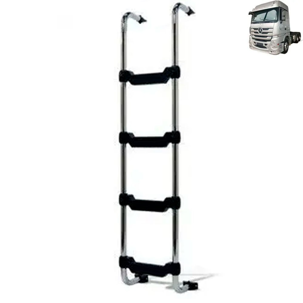 Escada Traseira para caminhão Mercedes-Benz Actros MEGASPACE Cromada