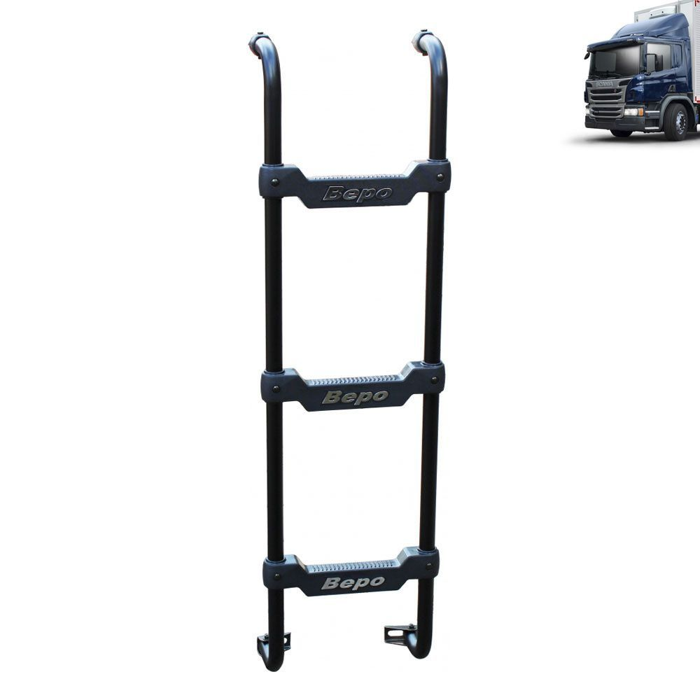 Escada Traseira Compatível com o caminhão Scania Cabine P Preta