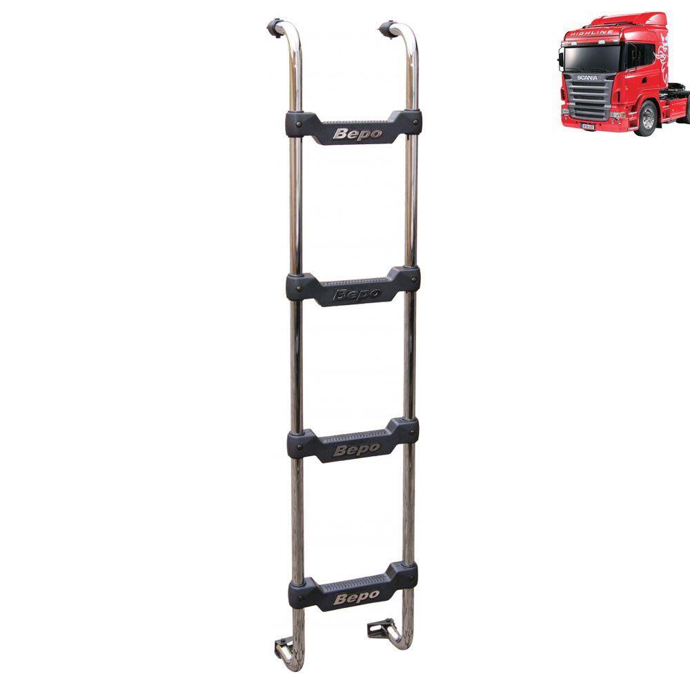 Escada Traseira Compatível com caminhão Scania S5 Cabine R Highline Preta