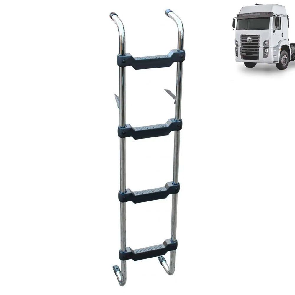Escada Traseira para caminhão Volkswagen Constellation Cabine Alta Cromada
