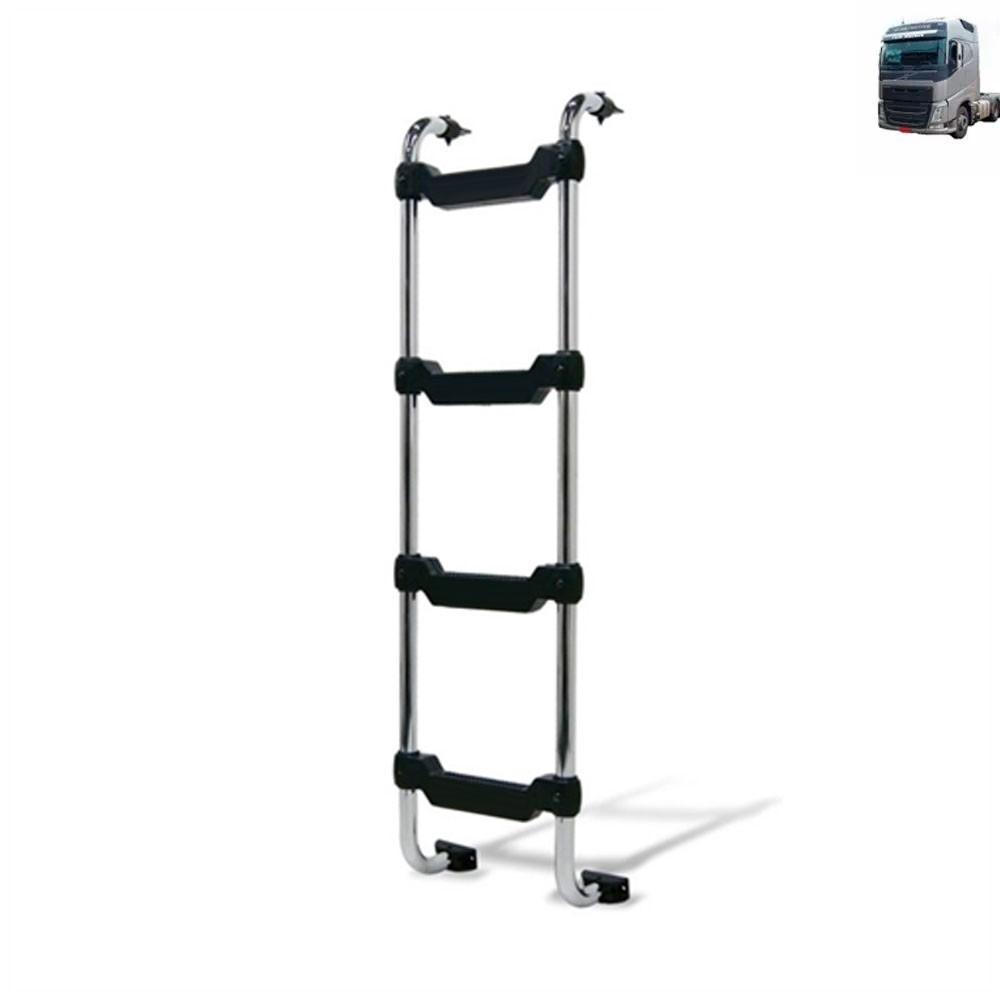 Escada Traseira para caminhão Volvo FH 2015 Cabine Baixa Tanque Arla Lateral Cromada