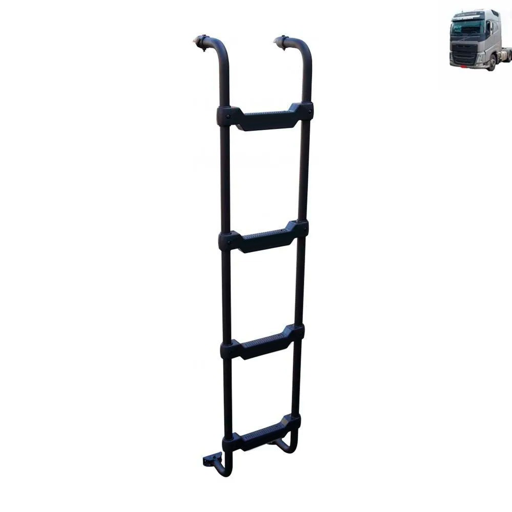 Escada Traseira para caminhão Volvo FH 2015 Cabine Baixa Tanque Arla Lateral Preta