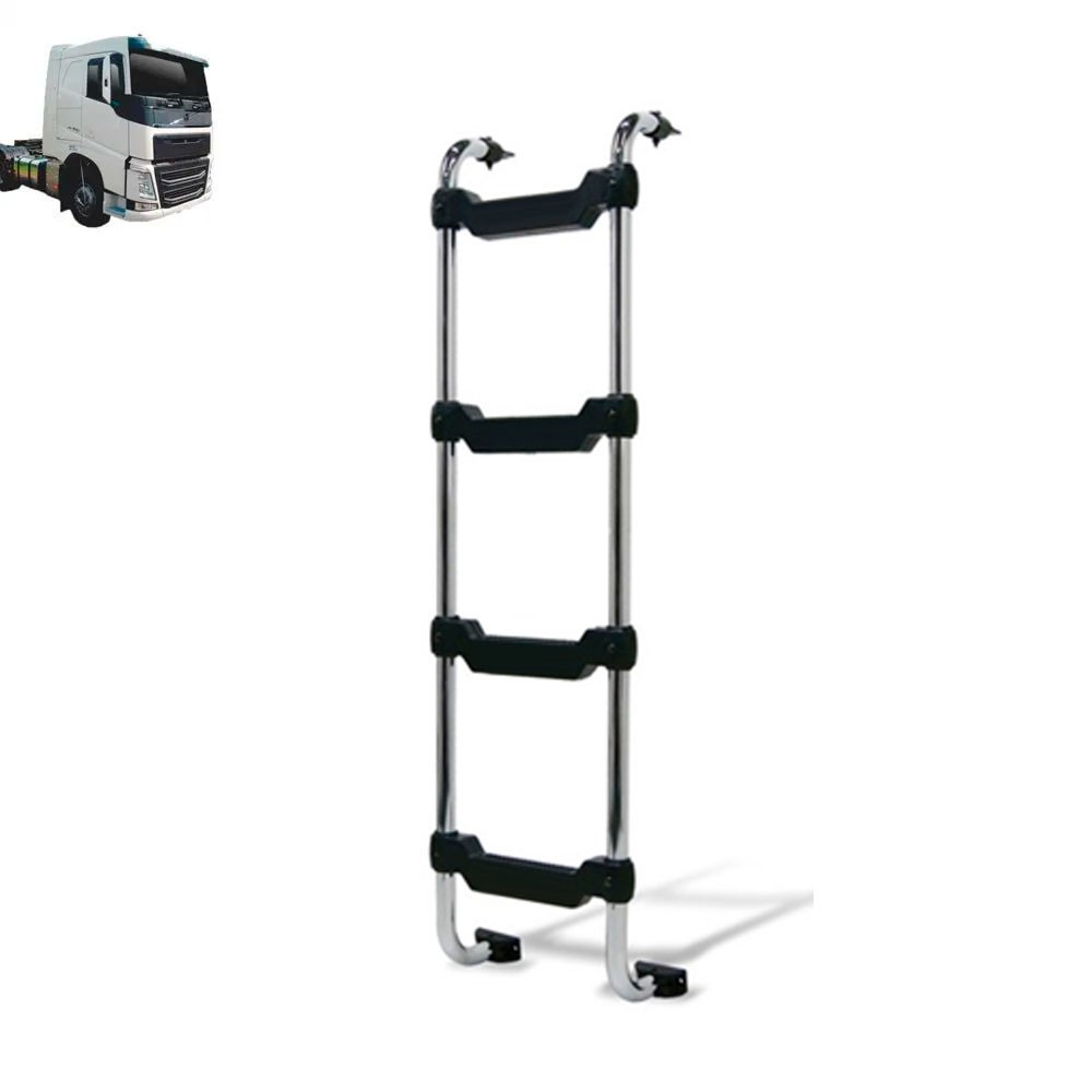 Escada Traseira para caminhão Volvo FH Globetrotter 2015 Tanque Arla Chassi Cromada