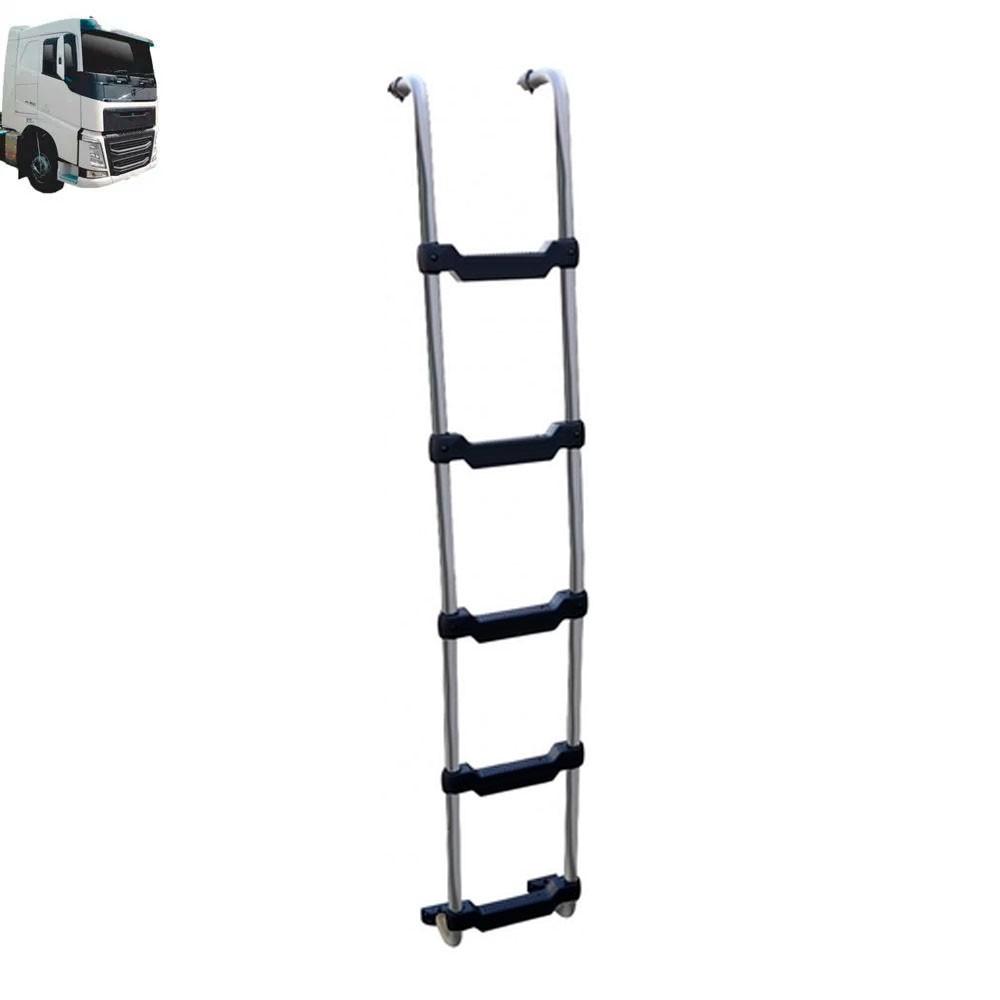 Escada Traseira para caminhão Volvo FH Globetrotter 2015 Tanque Arla Lateral Cromada