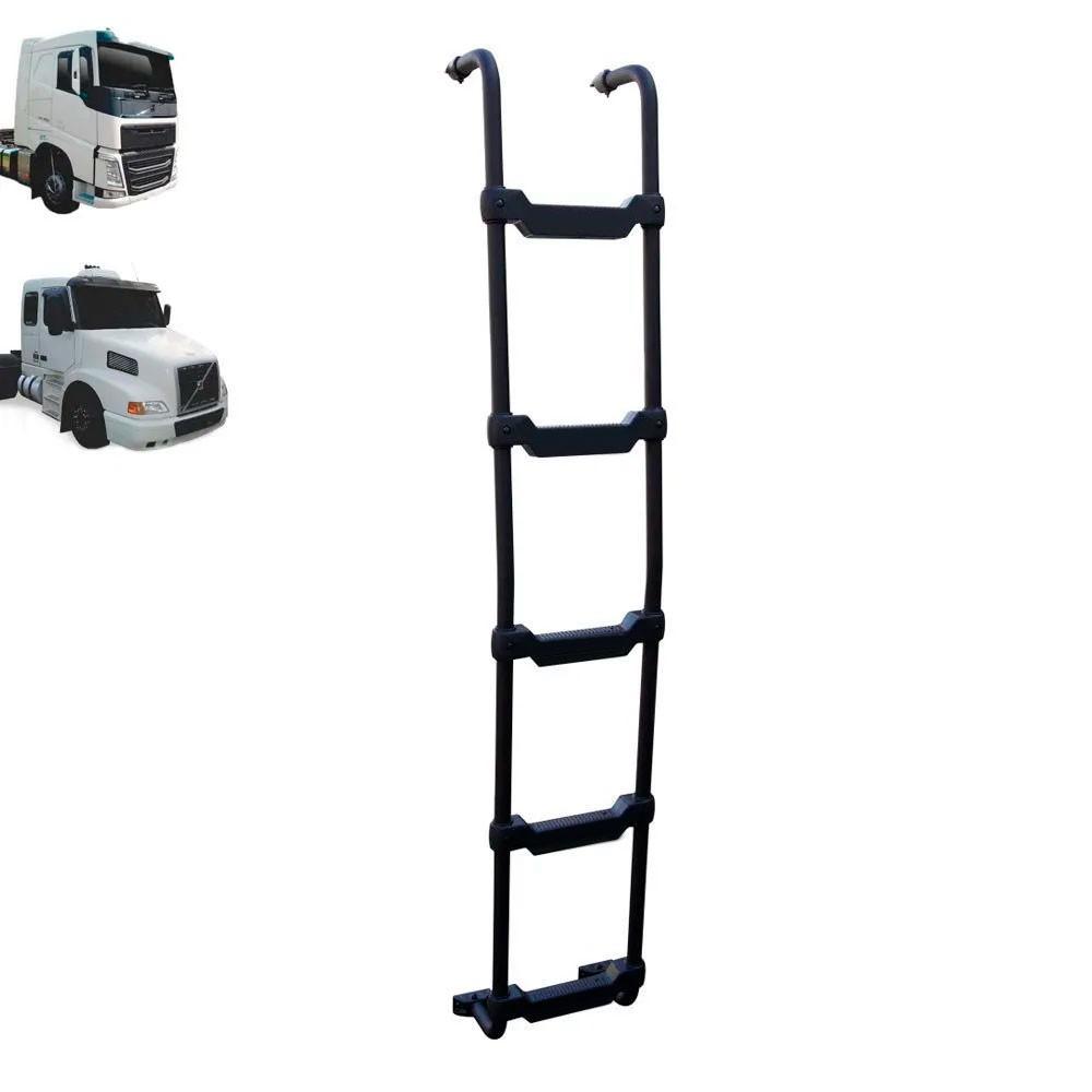 Escada Traseira para caminhão Volvo NH / FH Cabine Alta Preta
