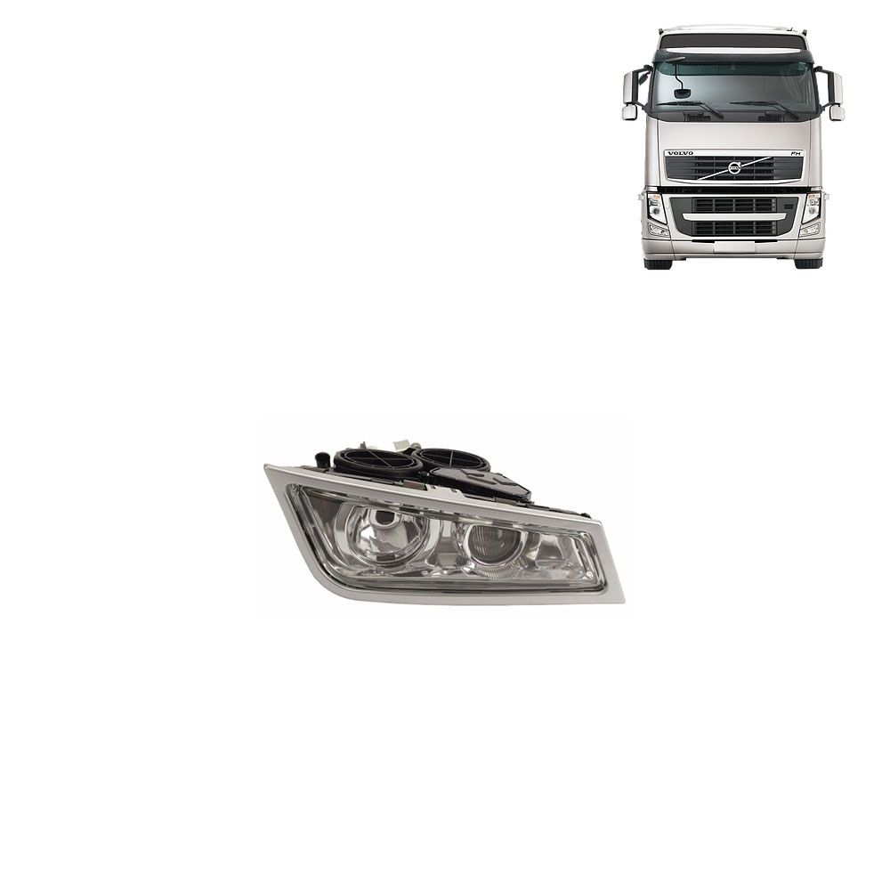 Farol Auxiliar para Caminhão Volvo FH12 de 2009 a 2014 Lado direito 21291917